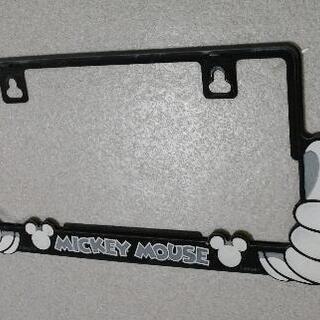 【取引中】 あげます! ナンバープレートカバー ミッキーマウス