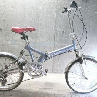 折り畳み自転車中古 Inter×cross 外装6段変速 サスペ...