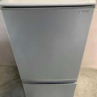 【良品】SHARP 2ドア冷蔵庫 SJ-14S-S 2010年製...