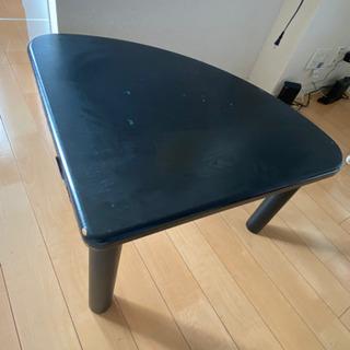 テーブル 黒 コーナーテーブル 三角