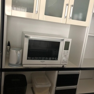 【ネット決済】条件付き無料 レンジボード キッチンボード食器棚 90