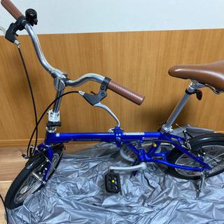 【ネット決済・配送可】キャプテンスタッグ 折りたたみ自転車 ブルー