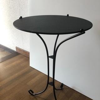 ①ミニテーブル サイドテーブル 飾り台 飾りテーブル 脚スチール...