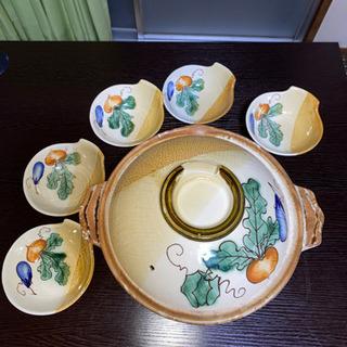 土鍋&小皿5枚セット