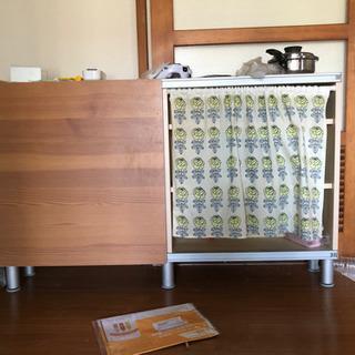 【ネット決済】IKEA棚カーテン付き