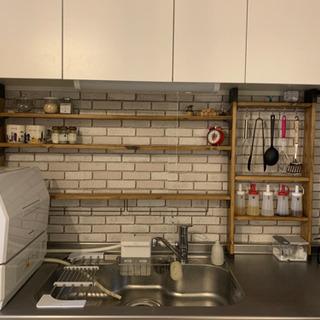 DIY キッチン収納棚 1×4材