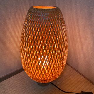 テーブルランプ 竹編みシェード