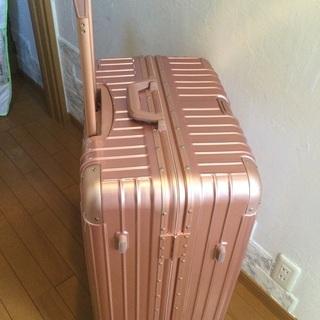美品 スーツケース ピンク