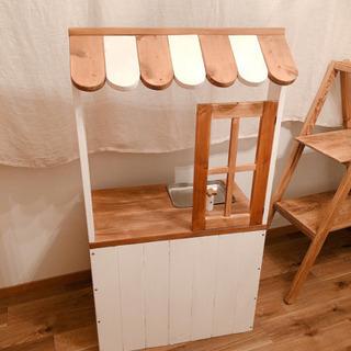 木製カントリーままごとキッチン