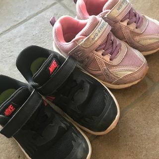子供靴 16cm ナイキ 中古品 2足セット