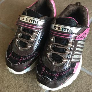 子供靴 17cm 中古 光る