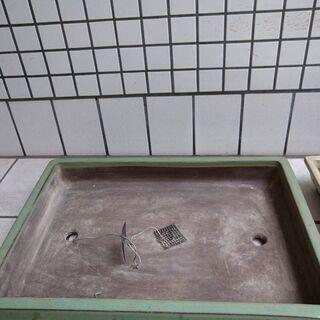 盆栽用植木鉢2個中古