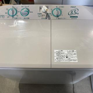 AQUA 3.5kg 2槽式洗濯機 AQW-N351 2017年製