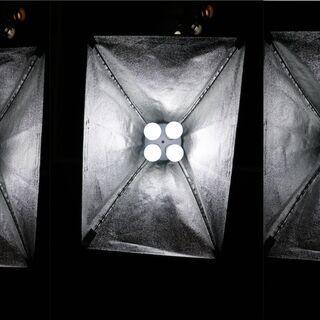【ネット決済・配送可】LED電球付 ソフトボックス 撮影用照明(...