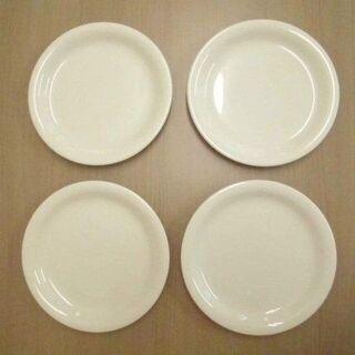 JM12234)Twice 白い皿 4枚セット 中古品【取りに来...