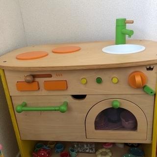 木製おままごとキッチンセット