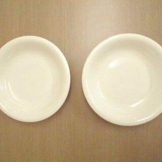 JM12235)白い深皿 2枚セット 中古品【取りに来られる方限定】