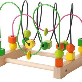 【ベビー用品・木製おもちゃ】IKEA ビーズコースター