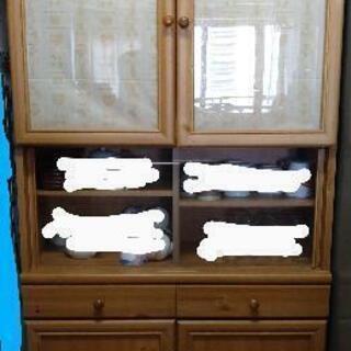 【差し上げます】スリムタイプ カントリー調 食器棚 シェルフ