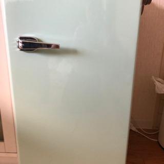 【レトロ冷蔵庫1ドア85L】中古オシャレ冷蔵庫 85L ライトグリーン