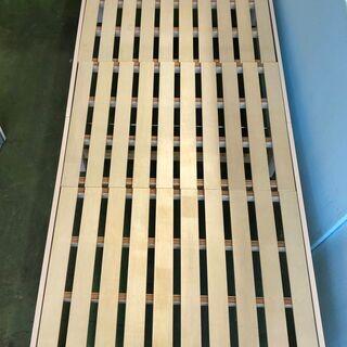 シングル ロングサイズ 木製すのこベッドフレーム 100×225...