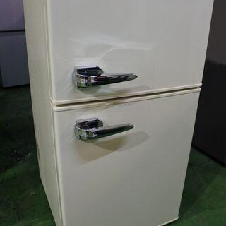 【ネット決済・配送可】レトロ 冷蔵庫 19年式 85L 単身サイ...