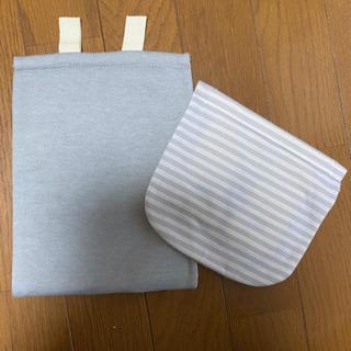 ニトリ 紙巻き機カバー グレー ボーダー