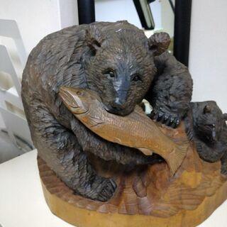 アンティーク木彫りの熊