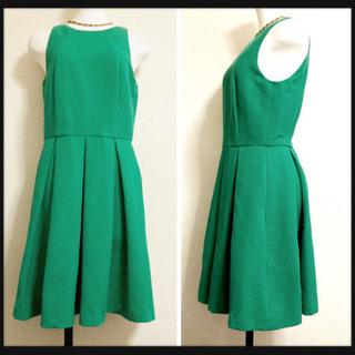 ꒰未使用✨ZARA BASIC꒱ワンピース 緑 ドレス シ…