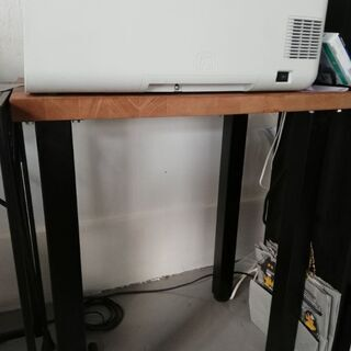 テーブル 木製×金属