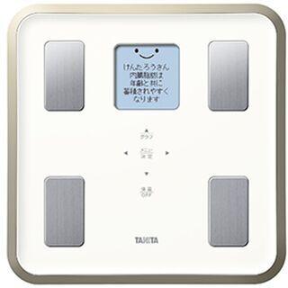 タニタ BC-810WH 体組成計 体重計 日本製 簡単操作 顔...