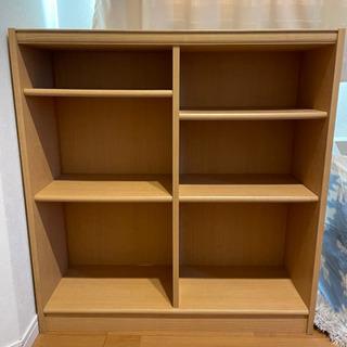 木製 収納棚 本棚 棚位置変更可能