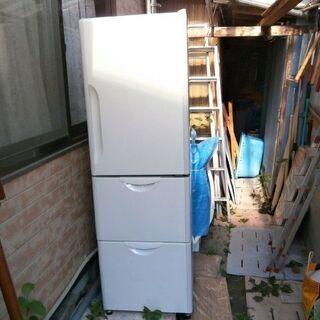 【売り切れ取引終了】野菜室ありの! 3ドア冷蔵庫(中古・普通品)