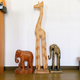 木彫り キリンのみ
