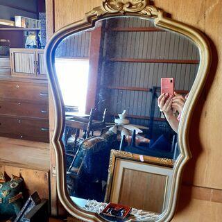 アンティーク  ロココ調 フレームミラー 鏡 壁掛け / NJ-...