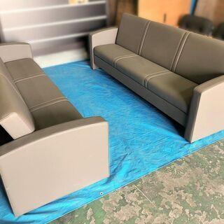 ◆3人掛け リクライニングソファーベッド W2100×D700×...