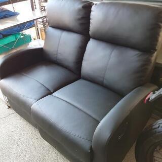 リクライニングソファー ブラック