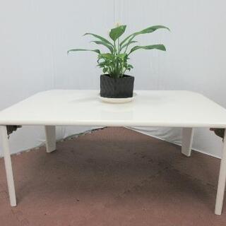 サービス価格(o^O^o)!折り畳みテーブル☆白