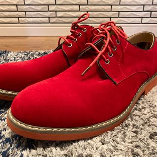 メンズ オシャレな赤い靴