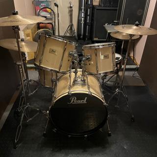 Pearl パール ドラムセット 中古品、フルセット