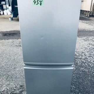 458番 シャープ✨ノンフロン冷凍冷蔵庫✨SJ-14E7-S‼️