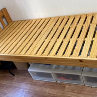 【引渡し@目黒区】組立式シングルベッド