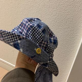 ★新品★200円 2way 日除け付 46cm 帽子