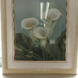 【美品】大きい  花の絵 額縁  額 写真たて