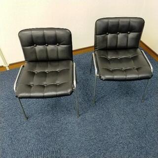 オフィス 会議室用椅子二脚