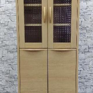 極美品!! 木製 食器棚 キャビネット キッチン 収納 ひ…