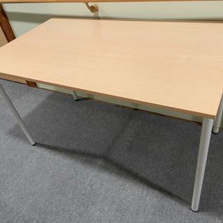白木調 テーブル 学習机 ダイニングテーブルにも