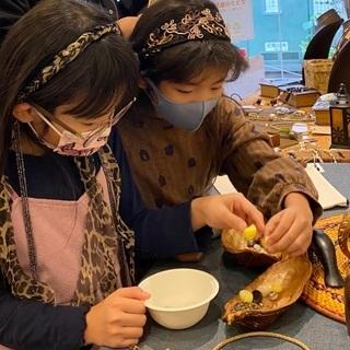 生態を知り、貝や石、木の種を使ってアクセサリーを作る − 神奈川県