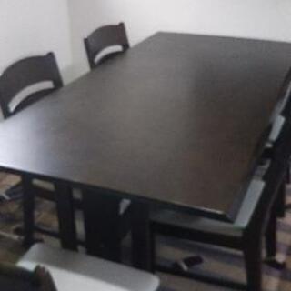 6人掛け食卓&椅子5脚