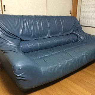 ブルー系ソファ      取りに来て頂ける方限定です。